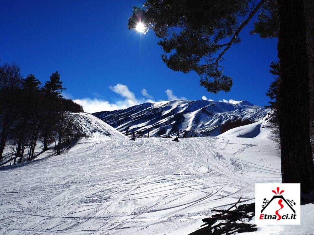 Piste Da Sci Etna Nord Piano Provenzano,Neve Etna Rifugio