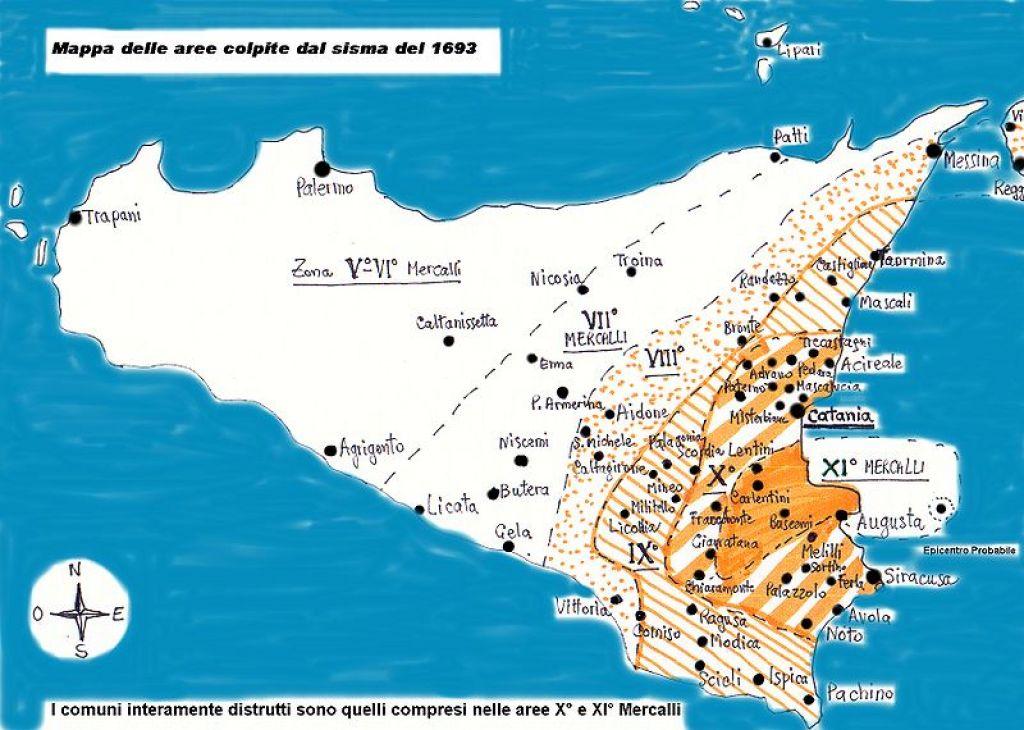 Cartina Dettagliata Sicilia Orientale.Nel 1693 La Sicilia Orientale Fu Distrutta Da Un Forte Terremoto Ma La Causa Non Fu